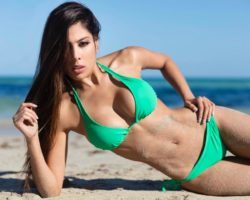 sexy Latina models in bikinis