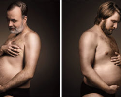 Hilarious Ads Show Men Cradling Beer Bellies Like Pregnant Moms