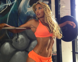 sexy blonde fitness model Haley Kate