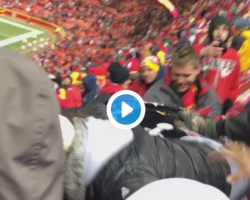 Video of Huge fight beaking out in stands of Chiefs vs. Raiders game, NFL