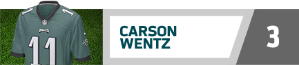 Philadelphia Eagles Carson Wents NFL jersey