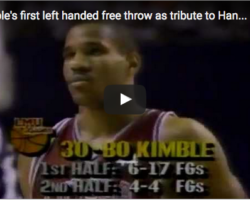 Bo Kimble Honor His Friend Hank Gathers