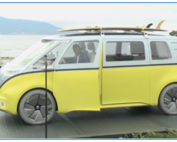 The VW I.D. Buzz Microbus in Yellow