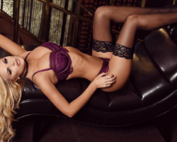sexy blonde models wearing lingerie