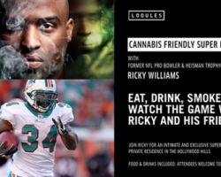 Former NFL Player Ricky Wiliams is Hosting a Cannabis Friendly Superbowl Party in the Hollywood Hills of California